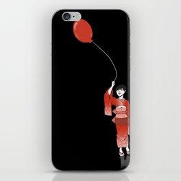 red balloon iPhone Skin