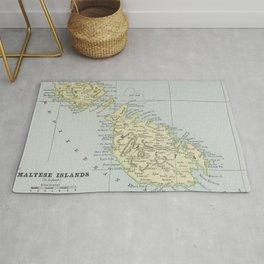 Vintage Malta Map (1901) Rug