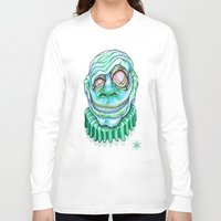 clown Long Sleeve T-shirts featuring Clown by Kikillustration