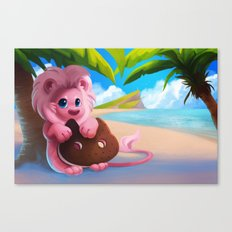 Lion on the Beach Canvas Print