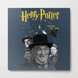 Henry Potter & The Building & Loan Metal Print
