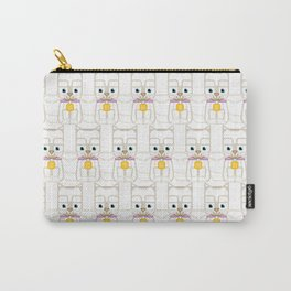 Super cute animals - Cute Kitty Cat White Carry-All Pouch