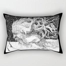 Snowy Tree Rectangular Pillow