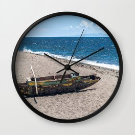 Sea Kayak Stripped By Nature Wall Clock