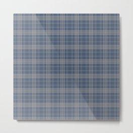 Blue & Gray Plaid Metal Print