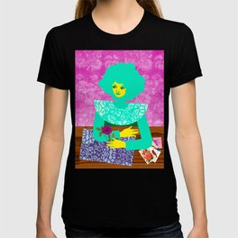 Rose and Green Dress T-shirt