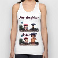 snk Tank Tops featuring SNK-My neighbor titan by Mimiblargh