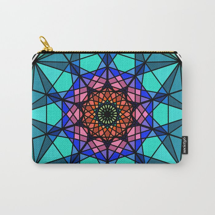 Abstract oriental fractal mandala Carry-All Pouch