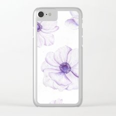 Anemones 2 White #society6 #buyart Clear iPhone Case