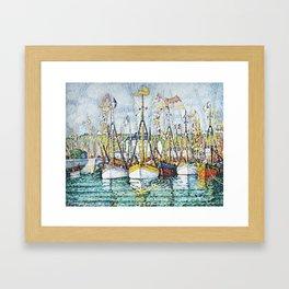 """Paul Signac """"Bénédiction des thoniers à Groix"""" Framed Art Print"""