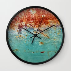 Teal Rust Wall Clock