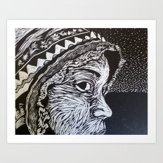 Something About My Hat Art Print