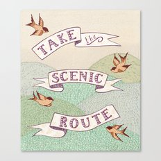 Take the Scenic Route print Canvas Print
