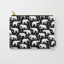 White Elephants Carry-All Pouch