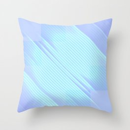 Soulmate - Abstract Geometric Minimalism Mint Lavender Throw Pillow