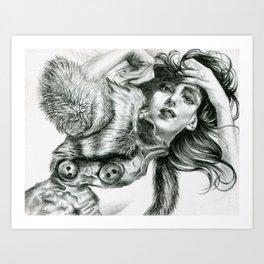 Lady In Fur Art Print