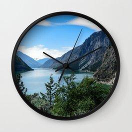 Lillooet Lake Mountain lake Canada mountains summer British Columbia Wall Clock