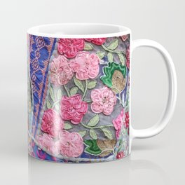 India Patchwork graphic violet Coffee Mug