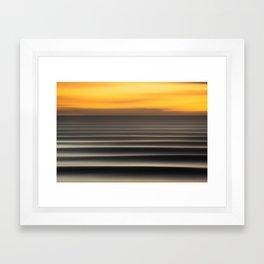 East Coast Lines Framed Art Print