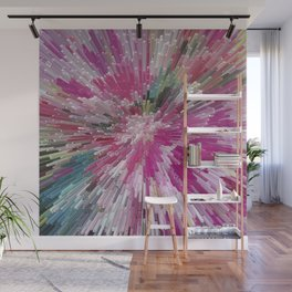Abstract flower pattern 3 Wall Mural