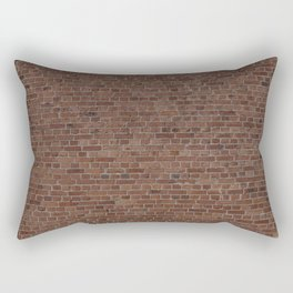 NYC Big Apple Manhattan City Brown Stone Brick Wall Rectangular Pillow