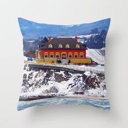 Le Chateau and the Sea Throw Pillow