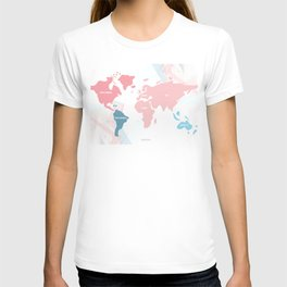 soft modern word map T-shirt