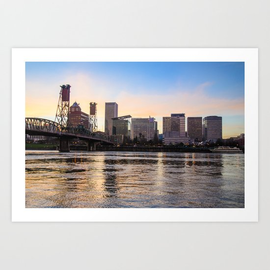 That Portland Skyline 2 Art Print