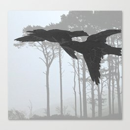 Crow Goes Hunting Canvas Print