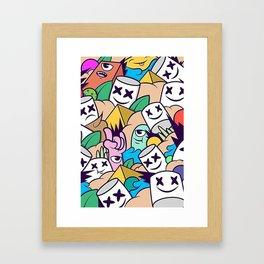 Marshmello  all face Framed Art Print
