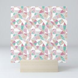 Abstract graphic pattern. Fun triangles. Mini Art Print