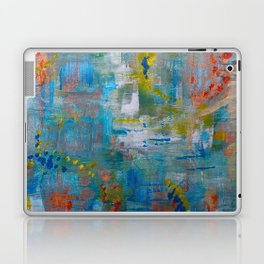 Modern Abstract Wall Art, A NEW Look, Blue vivid colors, living room wall art Laptop & iPad Skin