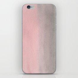 Gradient watercolor pink-gray iPhone Skin