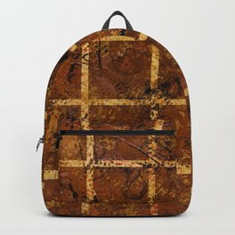 Brown Squares (Brown Abstract) Backpack