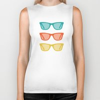 frames Biker Tanks featuring Ray Ban Frames Sunglasses by AleDan