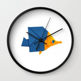 Origami Fish Wall Clock