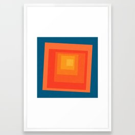 Homage to the Square Framed Art Print
