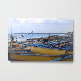 Jimbaran Fishermen Metal Print