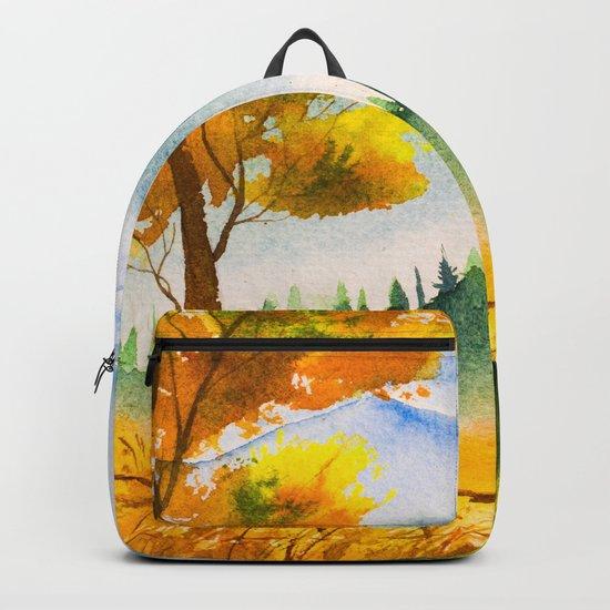 Autumn scenery #19 Backpack
