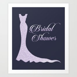 Glittery bridal dress Art Print