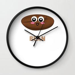 Where Have YOu Bean All My Life Cute Coffee Bean Pun Wall Clock