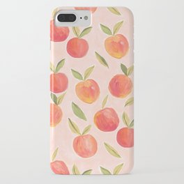 Peaches gouache painting iPhone Case