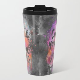 Create Magic handlettering colorful watercolor art Travel Mug