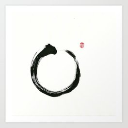 Zen Enso Art Print