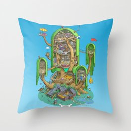 Home on a Tree Throw Pillow