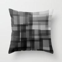 pixel Throw Pillows featuring PIXEL by aurelien vassal