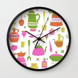 Kitschy Kitchen in Neon Wall Clock