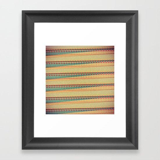 Frequencies Framed Art Print