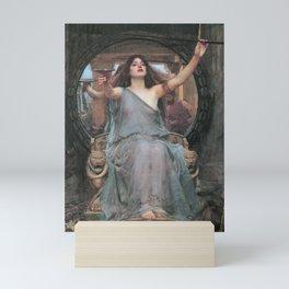 CIRCE OFFERING THE CUP TO ULYSSES - JOHN WILLIAM WATERHOUSE Mini Art Print
