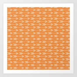 Orange Arrow Boho Tribal Print Art Print